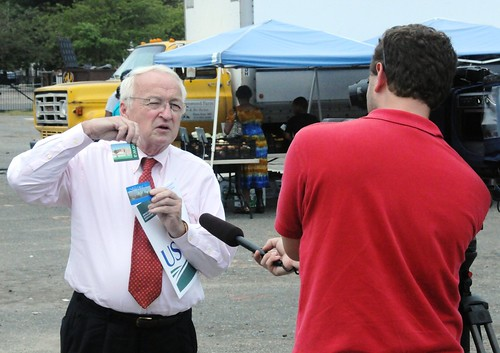 Under Secretary Kevin Concannon discusses SNAP benefits at Park Heights Community Farmers' Market in Baltimore.