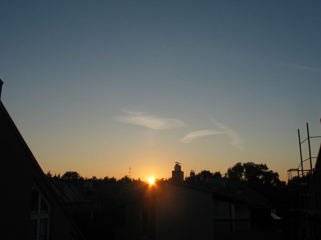 Sonnenaufgang am Äquinoktium, 23.Sep.2010