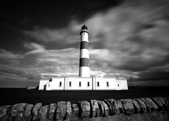 Tarbat Ness lighthouse - black and white long exposure (iancowe) Tags: lighthouse robert wall clouds easter scotland ross long exposure scottish stevenson portmahomack moray ness firth northernlighthouseboard nlb tarbat wbnawgbsct