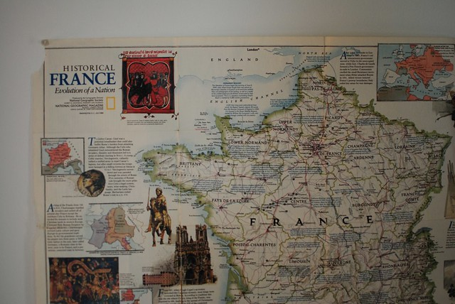 old map of france from national geographic