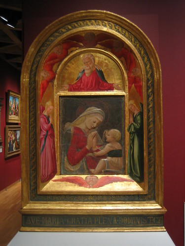 Virgin and  Child, c. 1460-65, Neri di Bicci, Desiderio da Settignano, God the  Father with Adoring Angels and Seraphim, 1472, Neri di Bicci _7706
