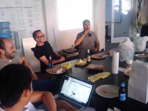 UserVoice team having a meeting