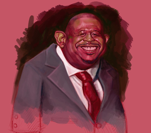 School Assignment 5 - caricature of Forest Whitaker - 3 small