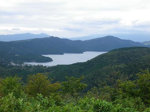 ターンパイクから見る芦ノ湖