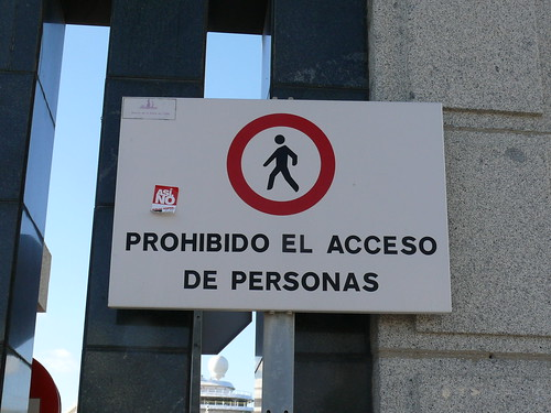 Prohibido el acceso de personas