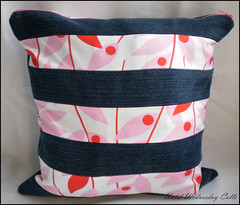 Denim & Pink Pillow