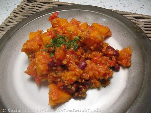 Birnenkürbis Chili mit Quinoa 002