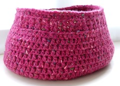 Pink Crochet Storage basket