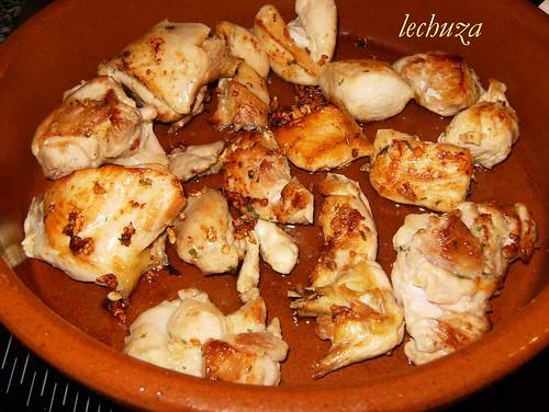 Pollo con fideos-poner en olla