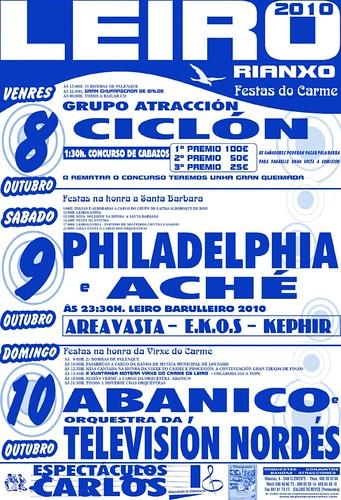 Rianxo - Leiro 2010 - cartel