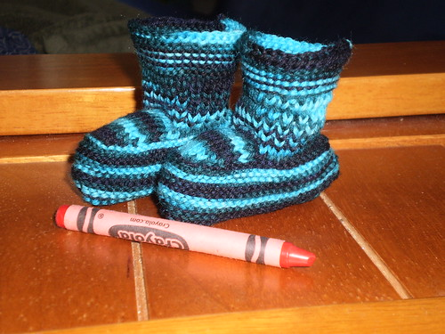 Rocky-a-billy Baby booties