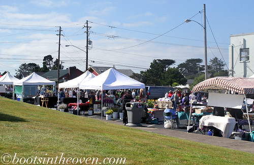 Tents at the Newport Farmers Market, Newport OR
