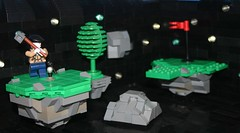 Galactic Golf (tin) Tags: tree hat club ball golf skull rocks hole lego space group twin course scifi blah lookatme microphone minifig chucknorris meteors asteroids npu atin