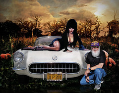 Great Pumpkins .... (Rat Rod Studios) Tags: halloween skulls skeleton death witch pumpkins hearse elvira hallowseve