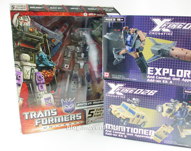 Transformers Bruticus Maximus Universe (FansProject Crossfire Ugraded) - cajas