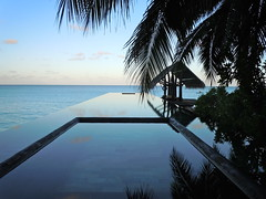 Infinity Pool (Sarah_Ackerman) Tags: ocean travel male beach water pool relax infinity indianocean lagoon resort swimmingpool villa tropical maldives luxury atoll reethirah theoneandonly northmale lhw leadinghotelsoftheworld