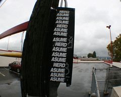 asume x werd close up (TEAMPOS) Tags: street art vancouver found words paint action panels