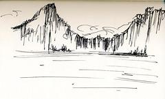 Paysage imaginaire ((Nathanael.Archer)) Tags: moleskine notebook landscape sketch sketchbook imagination paysage imaginary croquis moleskinerie imaginaire