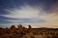 desert fantasy (Eric 5D Mark III) Tags: california longexposure sky cloud rock night landscape star nationalpark desert joshuatree midnight campground startrails whitetank ef1635mmf28liiusm