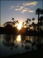 Sunset (Let me live) Tags: sunset lake paisaje rosedal puestadelsol bosquesdepalermo