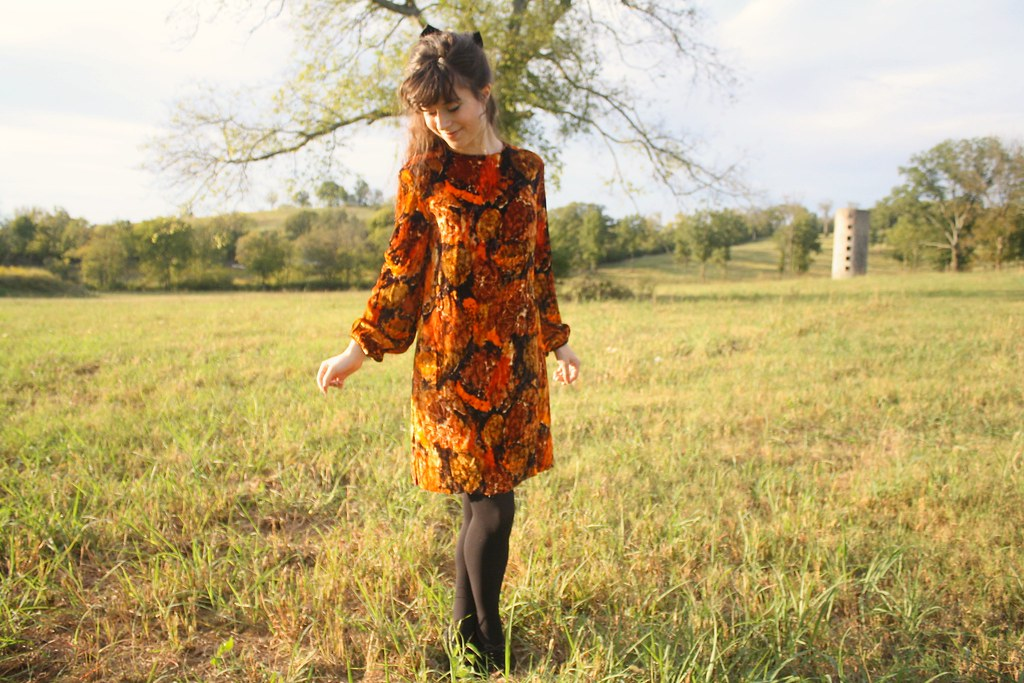 blooming leopold fall lookbook - autumn velvet dress