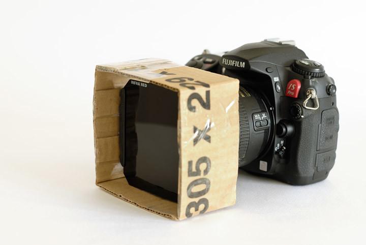 Adjustable lens hood for Cokin P filter system