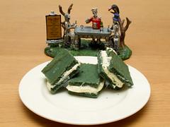 Frankenstein's favorite treat (Lady Selena) Tags: green halloween cake groen cookie chocolate velvet koekje fluweel