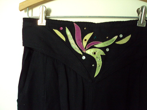 Flowy Black Pants Detail