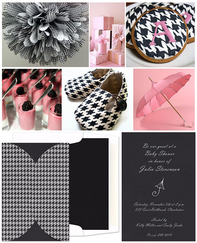 Girly Houndstooth Baby Shower