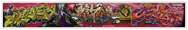 ZIMAD / MERES / ZYMER / TOPAZ GRAFFITI HALL OF FAME NYC