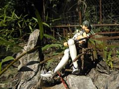 Queen's Blade Echidna (KickoBang) Tags: anime girl forest toy snake character queens elf blade ecchi echidna revoltech
