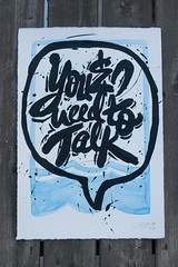 You & I need to talk. (Nick Adam) Tags: chicago art water typography grunge lakemichigan scrawl lettering chicagoriver handlettering calltoaction colorindia lovethelake chicagolettering nickadam inkchicago movingdesign lovedalake itsourwater departmentcad