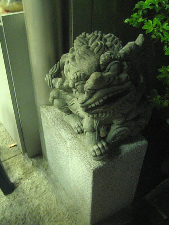 stone lion-right side