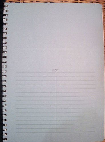 Apica Twin Ring Notebook - Index Page
