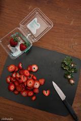 strawberries (chelminlim) Tags: food fruit knife strawberries brownsugarbetty