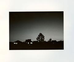 Sun Down (ZaiLeeP) Tags: windows sunset blackandwhite bw house film silhouette darkroom pentax naturallight ilfordhp5 naturallighting wetlab ilfordfilm silverprint kodakd76 kentmerevcselect