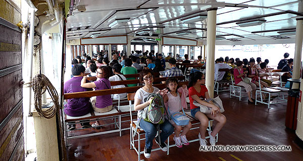 The ferry was quite full