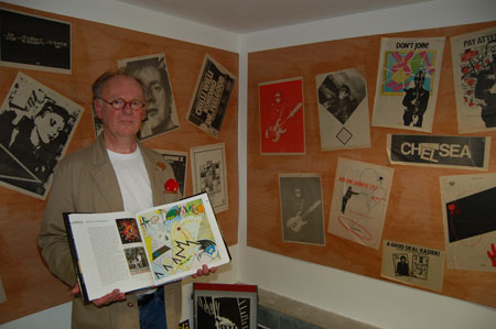 Process - Richard Evans with his  book The Art of the Album Cover