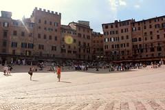 Auf dem Piazza Il Campo in Siena