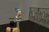 MekitatenexaminesstatueofNefertiti (mharrsch) Tags: sculpture ancient egypt 18thdynasty nefertiti akhenaten virtualworld thutmose meritaten amarna virtualenvironment mharrsch akhetaten heritagekey