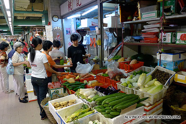 Another vegetable stall