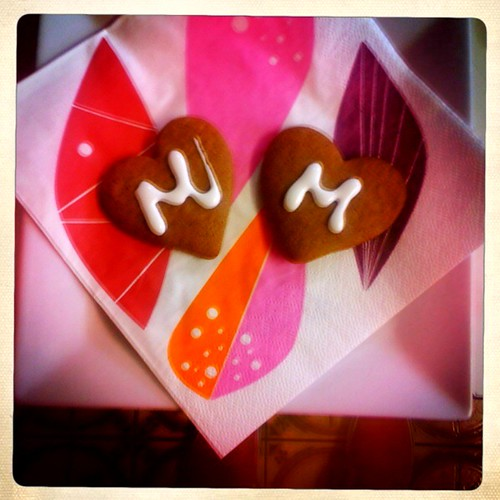 Gingerbread hearts for mark and mardi