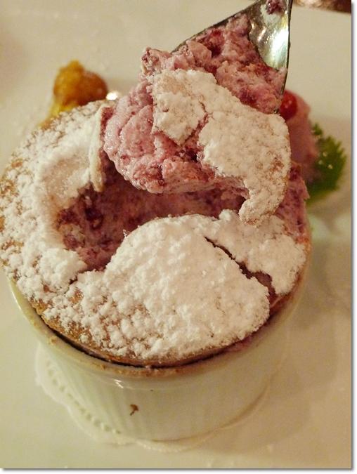 Cherie - Cherry Souffle with Redcurrant Gelato