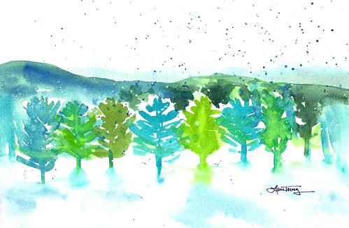 Winter Wonderland - Watercolor Painting