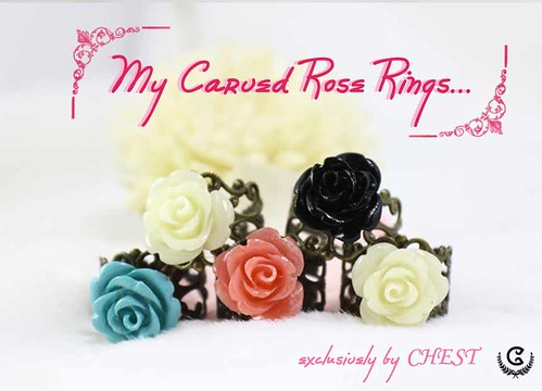 my carved ring(M)  - set