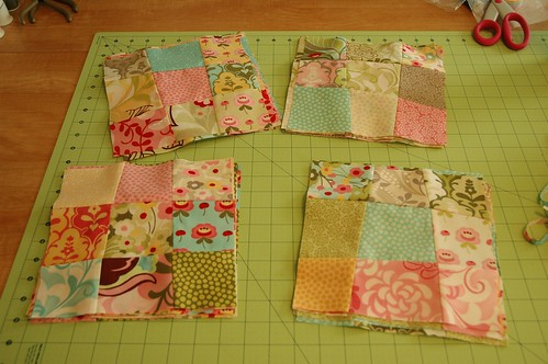 Hunky Dory crazy 9-patch blocks