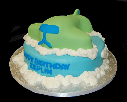 3D airplane birthday cake