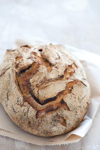 rustic homemade sourdough bread