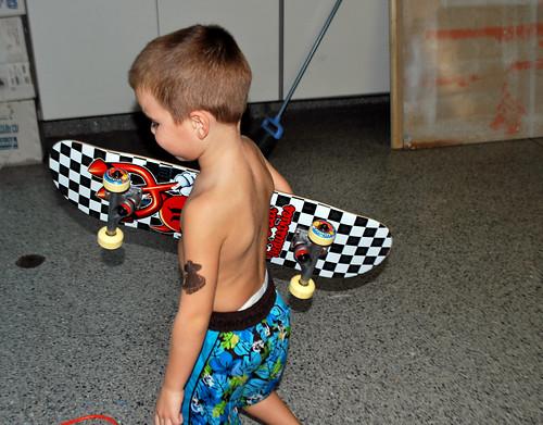 Badass with his skateboard