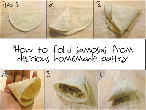 How to fold homemade samosas